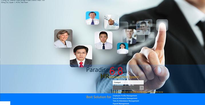 Paradise HRM chạy trên web