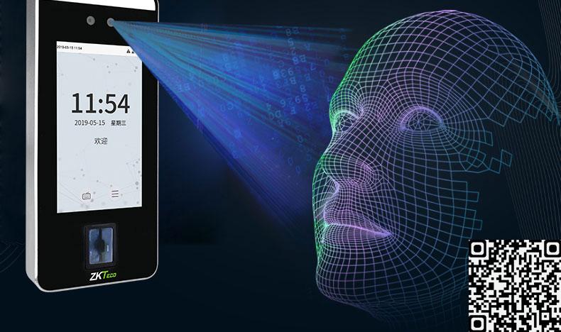 Máy chấm công khuôn mặt Camera phát hiện cơ thể sống