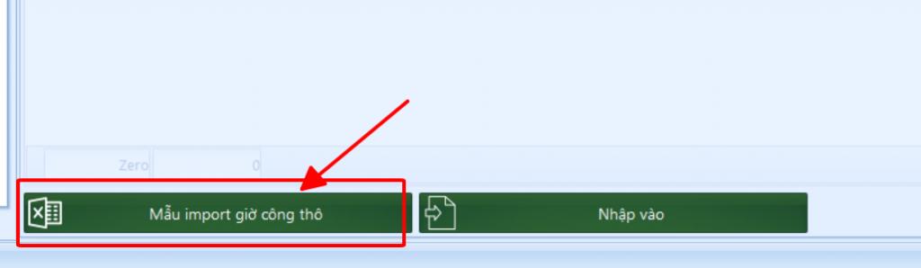 Lấu mẫu file excel để nhập dữ liệu chấm công thô vào phần mềm