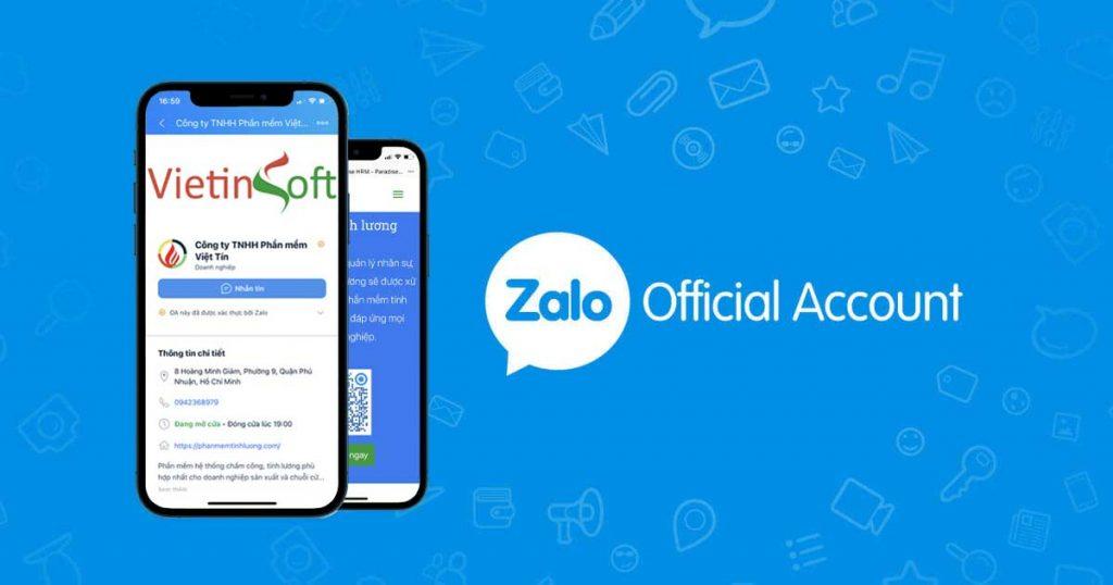 Zalo oa - lập trình nhắn tin đến khách hàng quan tâm