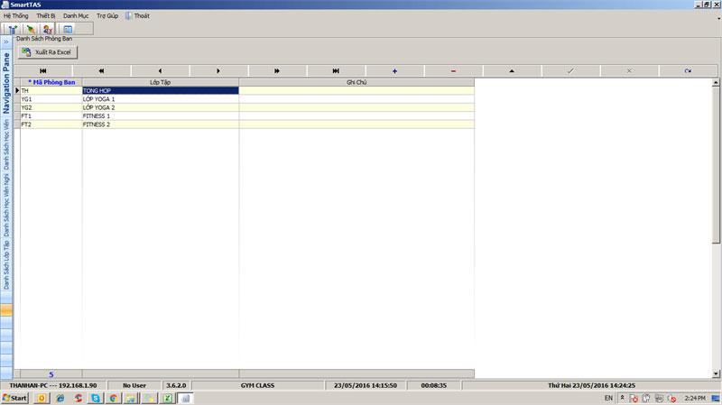 Phần mềm quản lý phòng gym SmartGYM