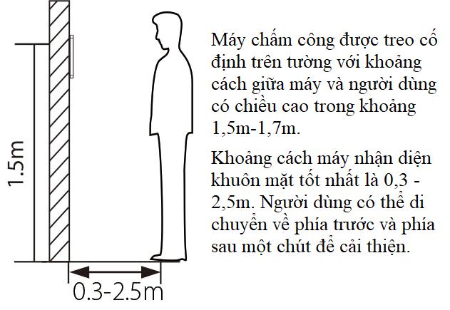 Hướng dẫn cách chấm công khuôn mặt tư thế đứng cần chính xác và trong phạm vi yêu cầu