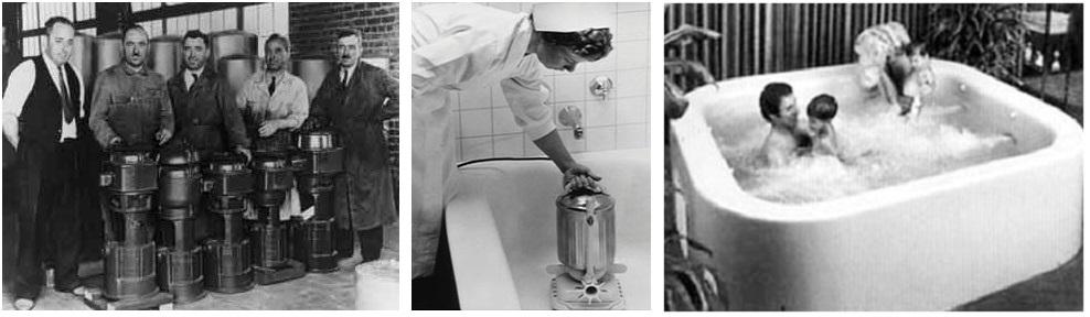 Lịch sử hình thành jacuzzi, bể sục spa, bể sục xông hơi